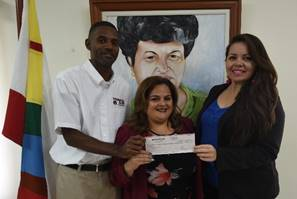 BTB presents U.S. $59,934.00 cheque to CTO Relief Fund 3