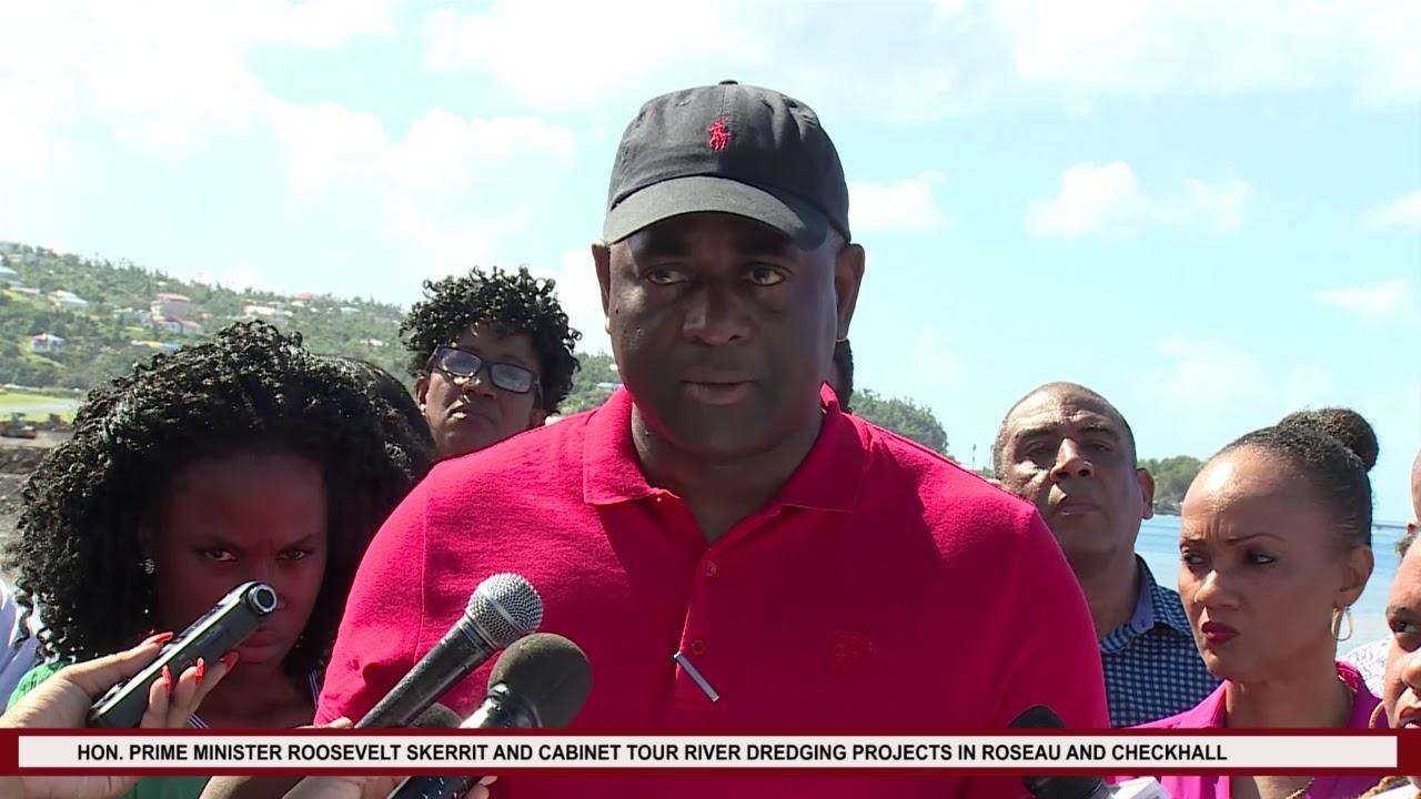 Hon. Prime Minister Roosevelt Skerrit visits river dredging projects 13