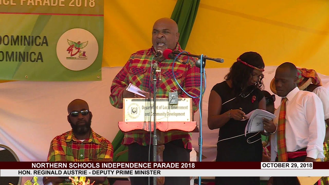 HON REGINALD AUSTRIE ADDRESSES NORTHERN SCHOOLS INDEPENDENCE PARADE 2018 3