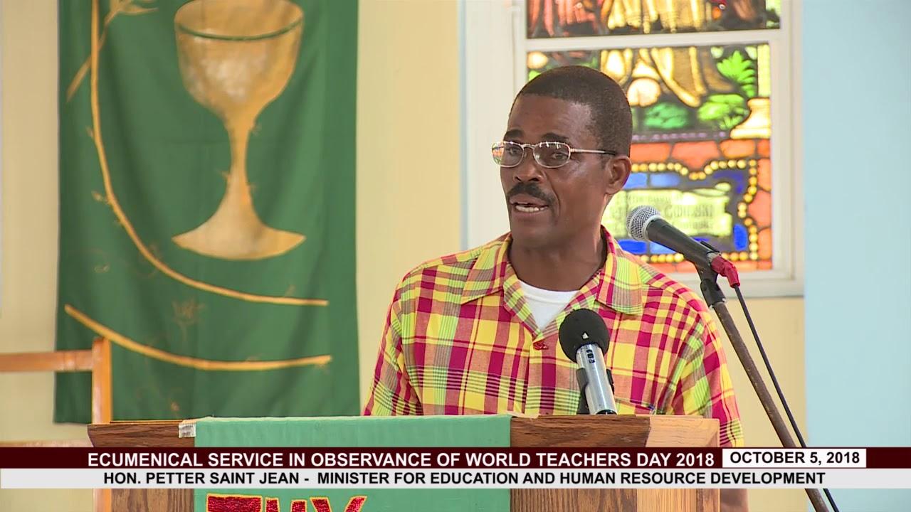 Hon. Minister for Education Addresses Teachers on World Teachers Day 2018 4