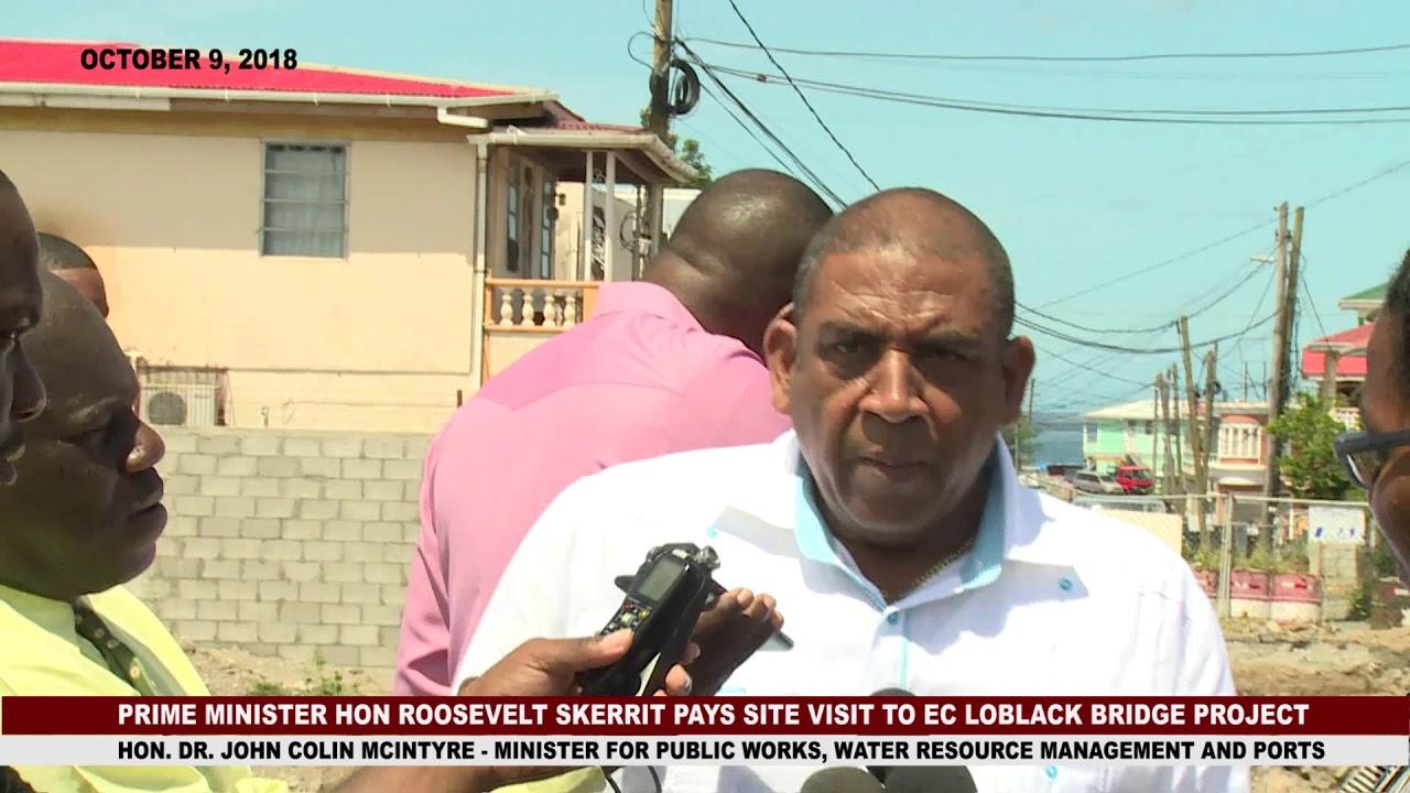 Prime Minister Hon. Roosevelt Skerrit visits EC Loblack Bridge Project site 3