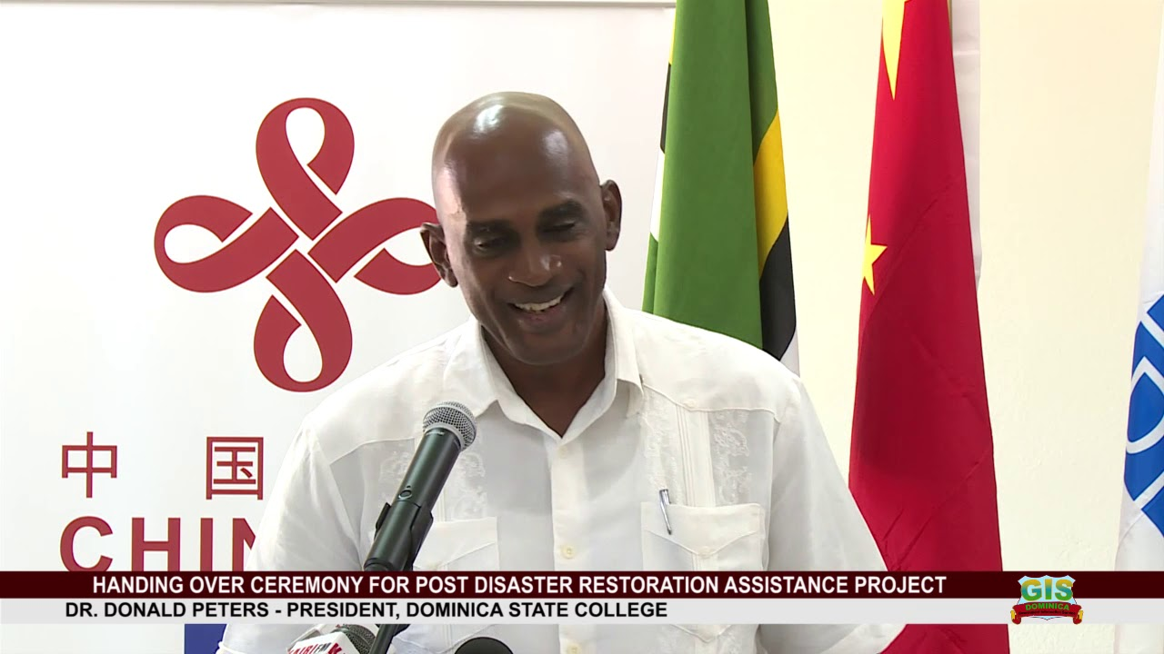 UNDP'S IAN KING ADDRESSES HAND OVER OF POST DISASTER RESTORATION ASSISTANCE PROJECT 12
