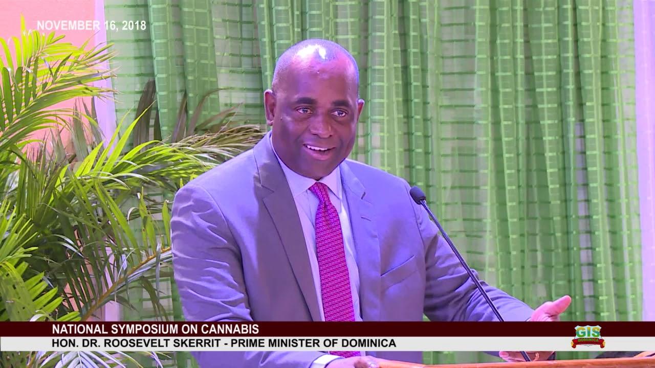 Hon. Prime Minister Dr. Roosevelt Skerrit addresses National Consultation on Cannabis 1