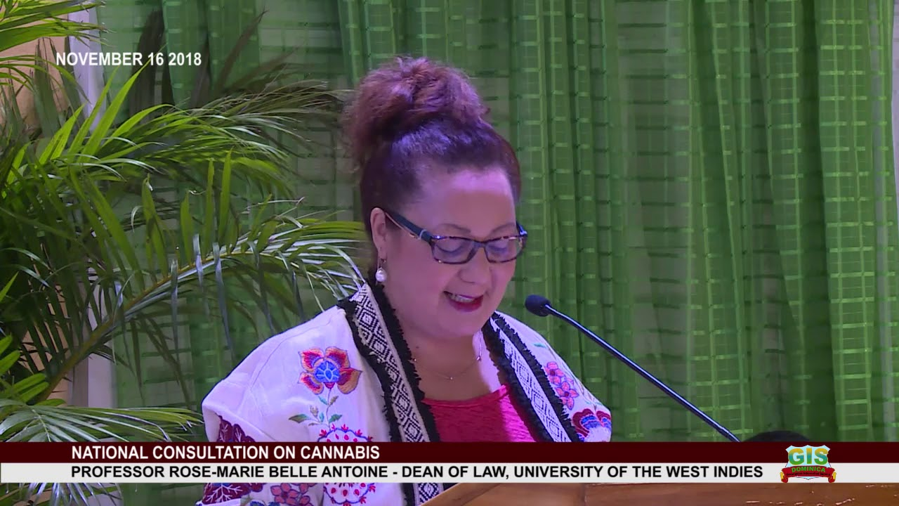 Professor Rose-Marie Belle Antoine addresses National Consultation on Cannabis 3