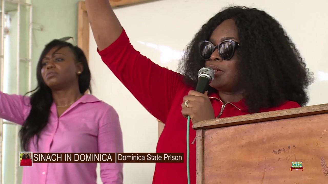 SINACH at the Dominica State Prison 1