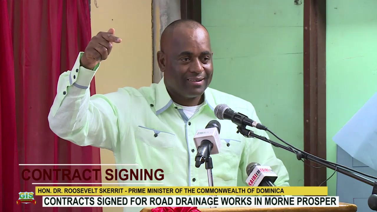 HON. PRIME MINISTER DR. ROOSEVELT SKERRIT ADDRESSES CONTRACT SIGNING CEREMONY IN MORNE PROSPER 2