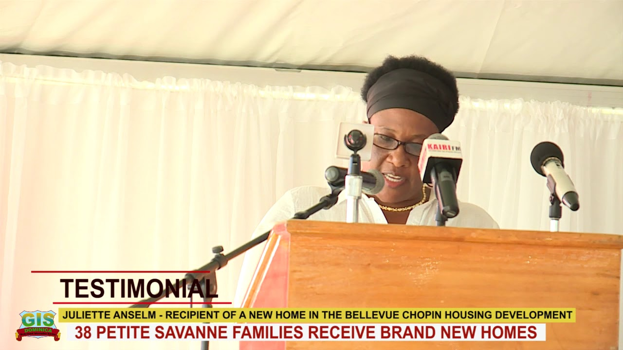 JULIETTE MARTIN OF PETITE SAVANNE RECEIVES KEYS TO BRAND NEW HOME 1