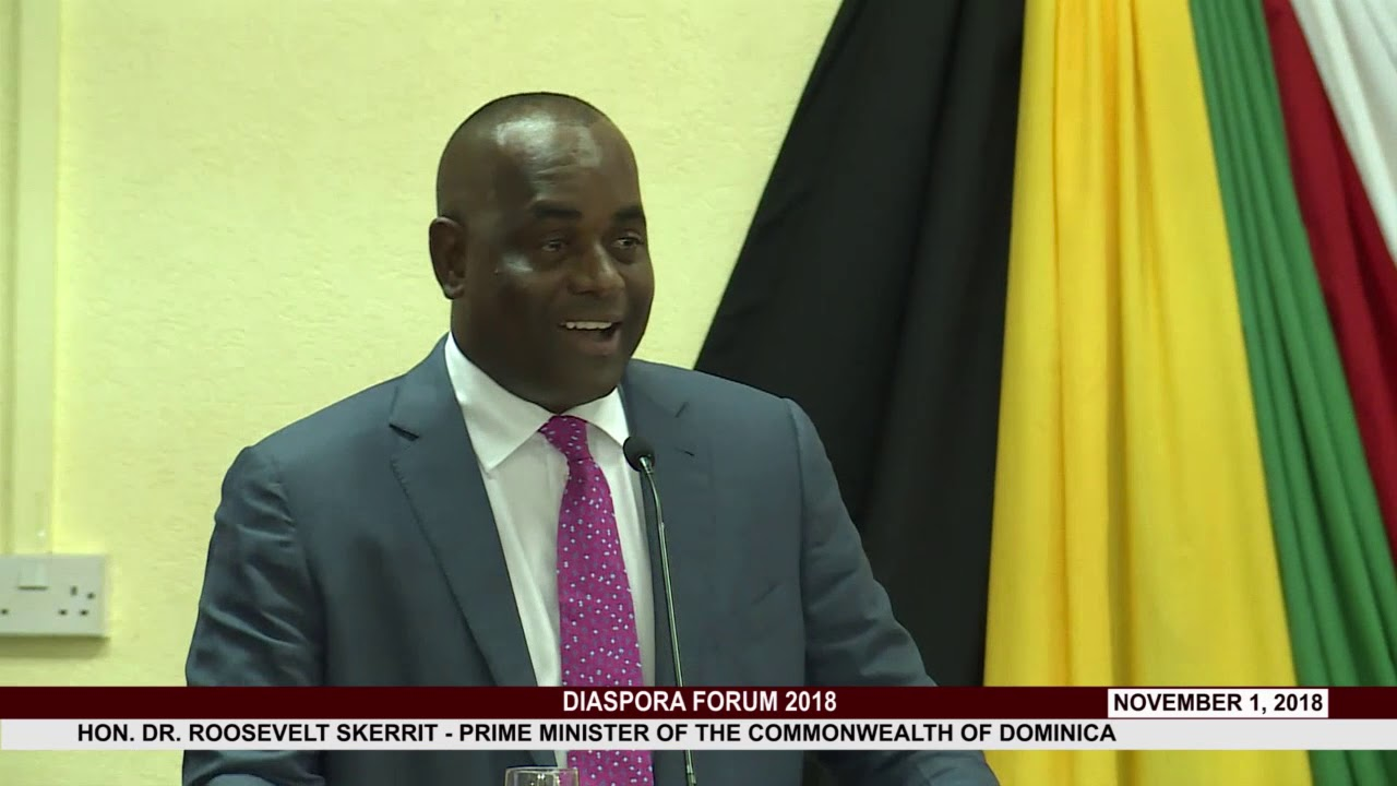 HON  PRIME MINISTER DR. ROOSEVELT SKERRIT ADDRESSES DIASPORA FORUM 2018 8