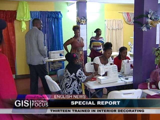 GIS Dominica: Interior Decorating Module of Small Business Support Unit 4