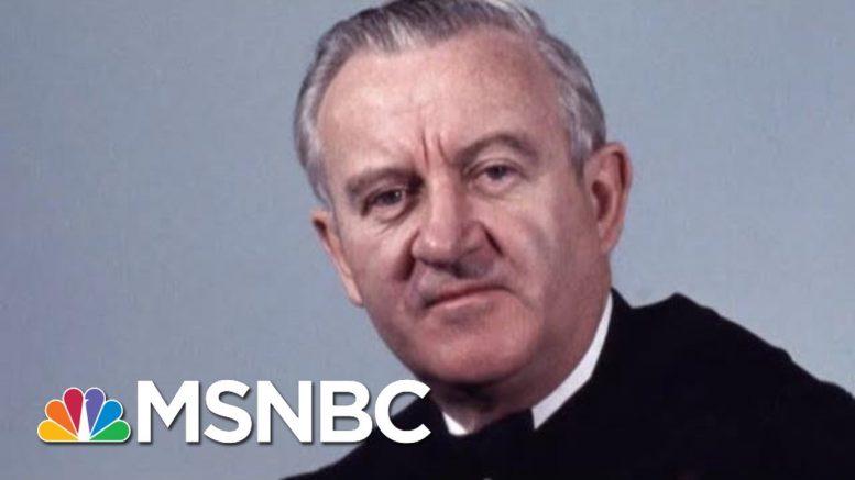 John Paul Stevens, 'The Rule Of Law Judge,' Known As A 'Judge's Judge' | Rachel Maddow | MSNBC 1