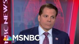 Anthony Scaramucci Reacts To President Donald Trump's Recent Comments | Velshi & Ruhle | MSNBC 2