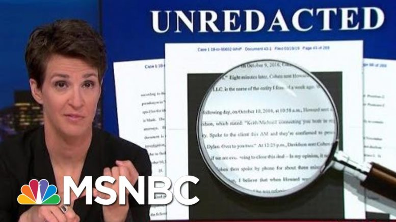 President Donald Trump Campaign Hush Money Scam Appears To Have Worked | Rachel Maddow | MSNBC 1