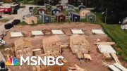 Group Turns To Tiny Houses To End Vet Homelessness   Velshi & Ruhle   MSNBC 4