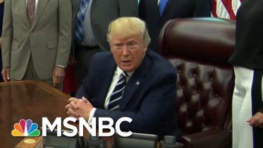 President Donald Trump Backtracks On Race-Baiting MAGA Chant | The Beat With Ari Melber | MSNBC 1