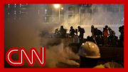 Police fire rubber bullets and tear gas in clash 5