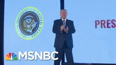 'A Well-Deserved Tribute'? Donald Trump In Front Of Fake Seal | Morning Joe | MSNBC 10
