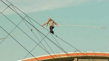 Nik Wallenda's high-wire walk over the Calgary Stampede midway 2