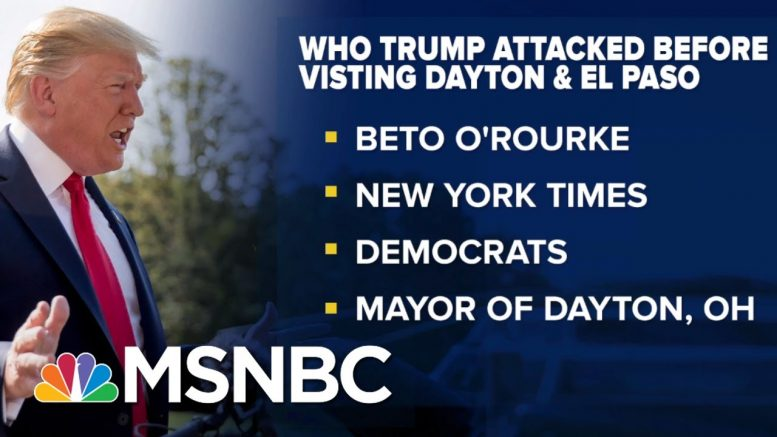 Grieving Victims Tell Trump To Stay Away After Shootings | The Beat With Ari Melber | MSNBC 1