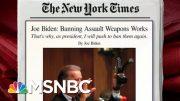 Joe Biden Writes In Op-Ed On Assault Weapons Ban   Morning Joe   MSNBC 2
