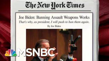 Joe Biden Writes In Op-Ed On Assault Weapons Ban | Morning Joe | MSNBC 6
