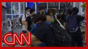 Chaos erupts at Hong Kong airport as riot police take on protesters 4