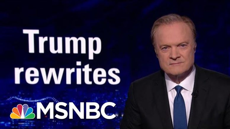 The President Donald Trump Team Rewrites The Statue Of Liberty | The Last Word | MSNBC 1