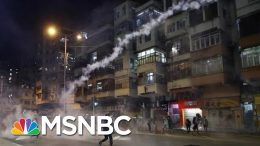 Hong Kong Police Fire Tear Gas At Demonstrators As Protests Continue | MSNBC 7