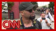 CNN reporter presses far-right rally leader in Portland 2