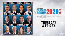 Watch Live: MSNBC's Climate Forum 2020 (DAY 1) | MSNBC 7
