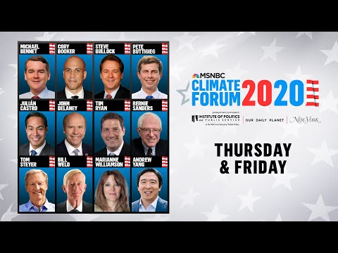 Watch Live: MSNBC's Climate Forum 2020 (DAY 2) | MSNBC 1