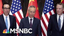 U.S. And China Say They'll Resume Trade Talks | Velshi & Ruhle | MSNBC 3