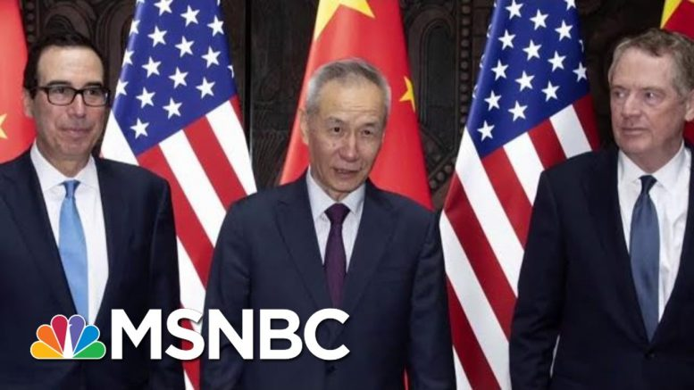 U.S. And China Say They'll Resume Trade Talks | Velshi & Ruhle | MSNBC 1