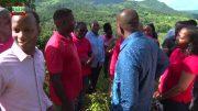 PRIME MINISTER HON ROOSEVELT SKERRIT VISITS CARHOLM FARM ROADS 5