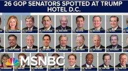 Republicans Didn't Go To Trump Hotels Until He Became POTUS | The Beat With Ari Melber | MSNBC 4
