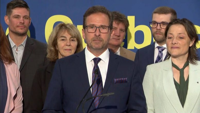 Bloc Leader Yves-François Blanchet discusses Quebec sovereignty at campaign launch 1