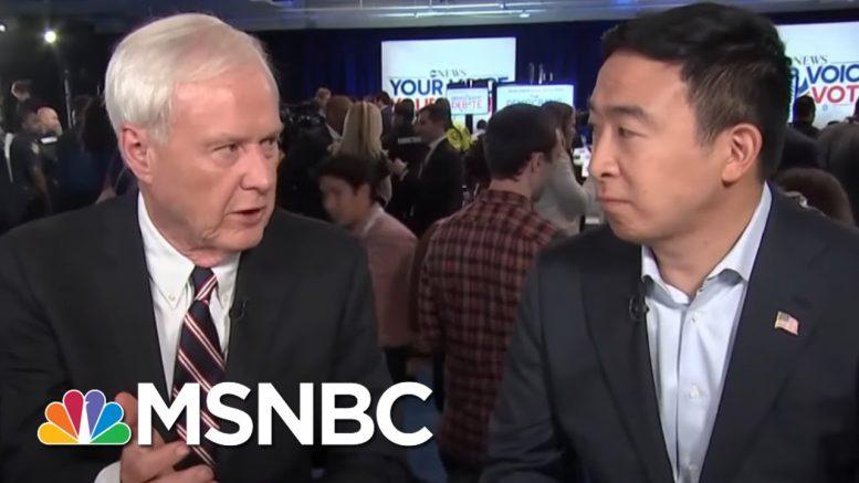 Andrew Yang: Working Americans Seeing Less Economic Gains Of 21st Century   Hardball   MSNBC 1