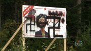 New Brunswick Liberal candidate signs defaced with swastikas 5