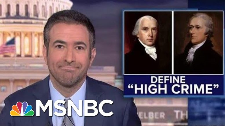 Why Trump's Ukraine Call Meets The Founders' Impeachment Standard | The Beat With Ari Melber | MSNBC 1