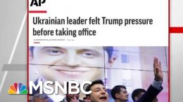AP: Ukrainian Leader Felt President Donald Trump Pressure Before Taking Office | Hardball | MSNBC 9