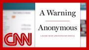 What will 'Anonymous' author reveal in book 'A Warning'? 1