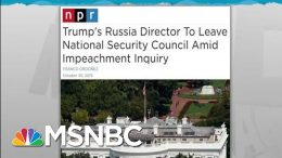 Top Trump Russian Official Quits Ahead Of Impeachment Testimony | Rachel Maddow | MSNBC 9