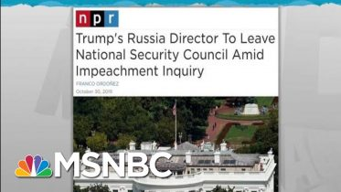 Top Trump Russian Official Quits Ahead Of Impeachment Testimony | Rachel Maddow | MSNBC 2