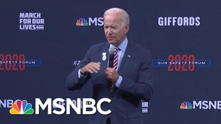 Biden Answers Question From Giffords, About Children In The School Shootings | Craig Melvin | MSNBC 1