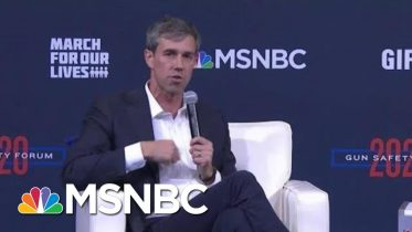 O'Rourke: 'When The Second Amendment Was Ratified, It Took 3 Minutes To Reload A Musket'   MSNBC 10
