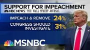 Majority Of Americans Back Impeachment Inquiry Or Trump's Removal From Office | MTP Daily | MSNBC 2