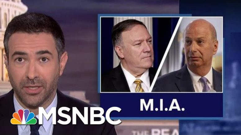 Dems Dial Up Heat In Impeachment Probe As Trump Stonewalls Text Message Evidence   MSNBC 1