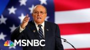 Two Giuliani Ukraine Associates Arrested On Campaign Finance Charges | Velshi & Ruhle | MSNBC 3