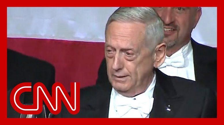 Mattis mocks Trump's bone spurs during Al Smith dinner speech 1