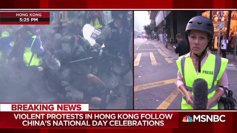 Violent protest in HK follow China's anniversary celebrations 1