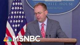 Subpoena Deadline Today For Docs From Mick Mulvaney, Perry | Velshi & Ruhle | MSNBC 3